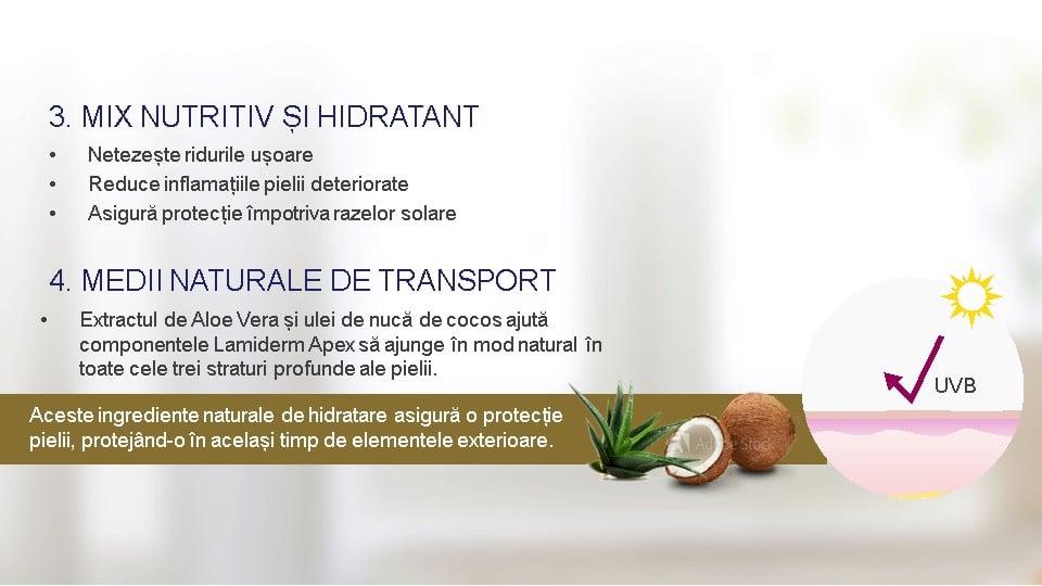 Lamiderm Apex bio ser unic pentru piele ingrediente naturale de hidratare